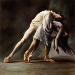 "Love dance 30""x30"" - Sold"