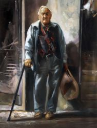 "Old man Ed 30""x40"" - Sold"