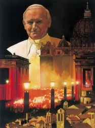 "Papa Giovanni Paolo II 25""x30"" - Sold"