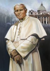 "Papa Giovanni Paolo II 30""x40"" - Sold"