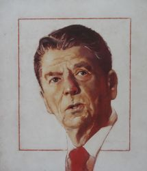 "President Regan 10""x12"" - Sold"