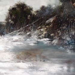 "Snow melt 30""x30"" - Sold"