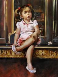 "Young girl 30""x40"" - Sold"